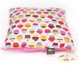 Poduszka babeczki z różowym Minky