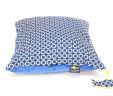 Poduszka koła z niebieskim Minky