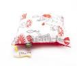 Poduszka scenki  z czerwonym Minky