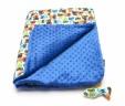 Kocyk szopy z niebieskim Minky