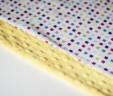 Poduszka kwadraciki z żółtym Minky
