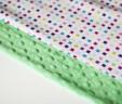Poduszka kwadraciki z zielonym Minky