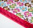 Poduszka małpki rose z czerwonym Minky