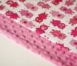 Kocyk prosiaczki z różowym Minky