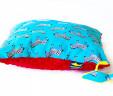Poduszka zebry z czerwonym Minky