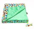 Kocyk szopy z zielonym Minky