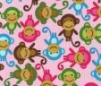 Chustko-bandanka różowe małpki