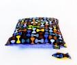 Poduszka muszki z niebieskim Minky