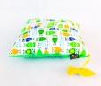 Poduszka sówki z zielonym Minky