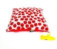 Poduszka biedronki z czerwonym Minky