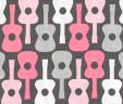 Etui na książeczkę zdrowia gitary różowe
