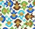 Etui na książeczkę zdrowia małpki niebieskie