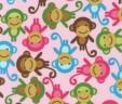 Etui na książeczkę zdrowia małpki różowe